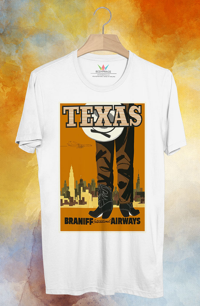 BP130 เสื้อยืด Retro City : Texas