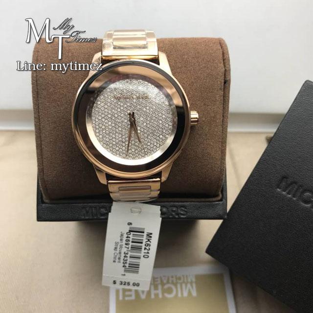 นาฬิกาข้อมือ MICHAEL KORS รุ่น Kinley Pave Rose Dial Ladies Watch MK6210
