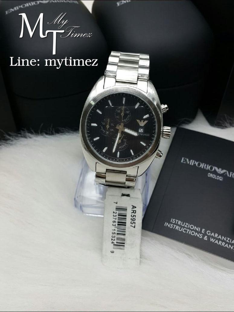 นาฬิกาข้อมือ Emporio Armani Men's Sportivo Black Dial Stainless AR5957