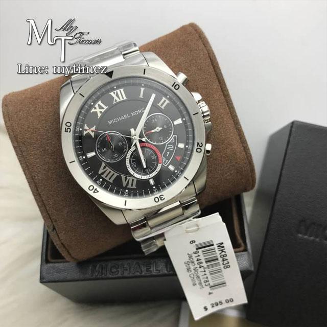 นาฬิกาข้อมือ MICHAEL KORS รุ่น Brecken Chronograph Black Dial Stainless Steel Men's Watch MK8438