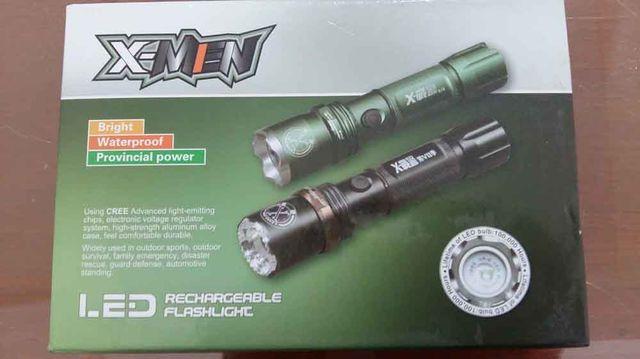 X-Men ไฟฉายเอนกประสงค์ 3 ระบบ สว่างมาก สว่างน้อย ไฟกระพริบฉุกเฉิน 18000W (สีดำ)