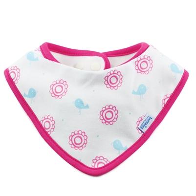 Bumkins ผ้ากันเปื้อน ชนิดผ้า cotton แบบกันน้ำ รุ่น Bandana Bib - สี ชมพูขาว