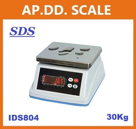 ตาชั่งดิจิตอล เครื่องชั่งกันน้ำ ตาชั่งกันน้ำ รุ่น IDS804-30Kg ค่าละเอียด 1 กรัม ยี่ห้อ SDS ไต้หวัน ราคาถูก คุณภาพดี