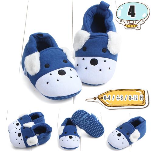 รองเท้าเด็กอ่อน ลายหมาน้อย สีน้ำเงิน - Blue puppy