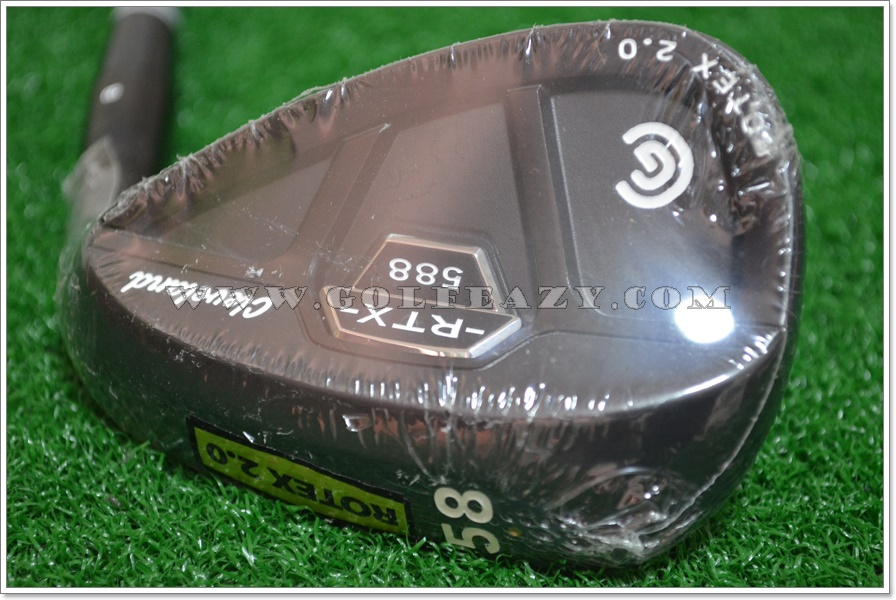 NEW CLEVELAND 588 RTX 2.0 CB BLACK SATIN WEDGE 58* LOB WEDGE