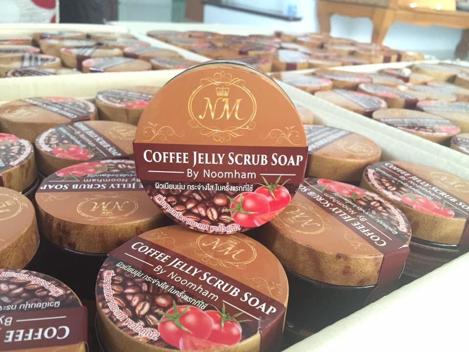 เจลสครับกาแฟสูตรพิเศษ Coffee Jelly Scrub Soap By Noomham