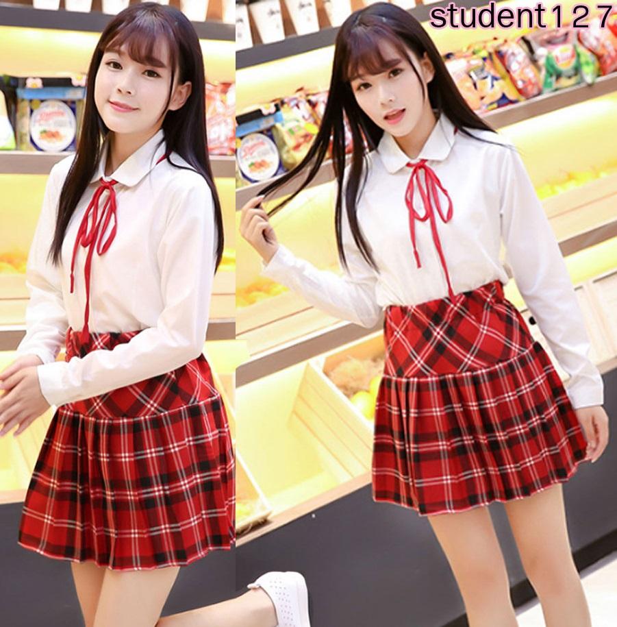 รหัส student127 ชุดคอสเพลย์นักเรียน