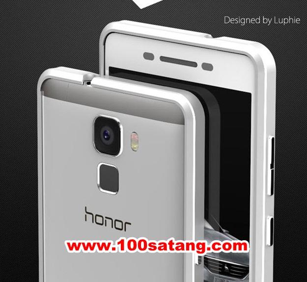 (027-441)เคสมือถือ Case Huawei Honor 7 เคสบัมเปอร์โลหะสไตล์ไทเทเนียม