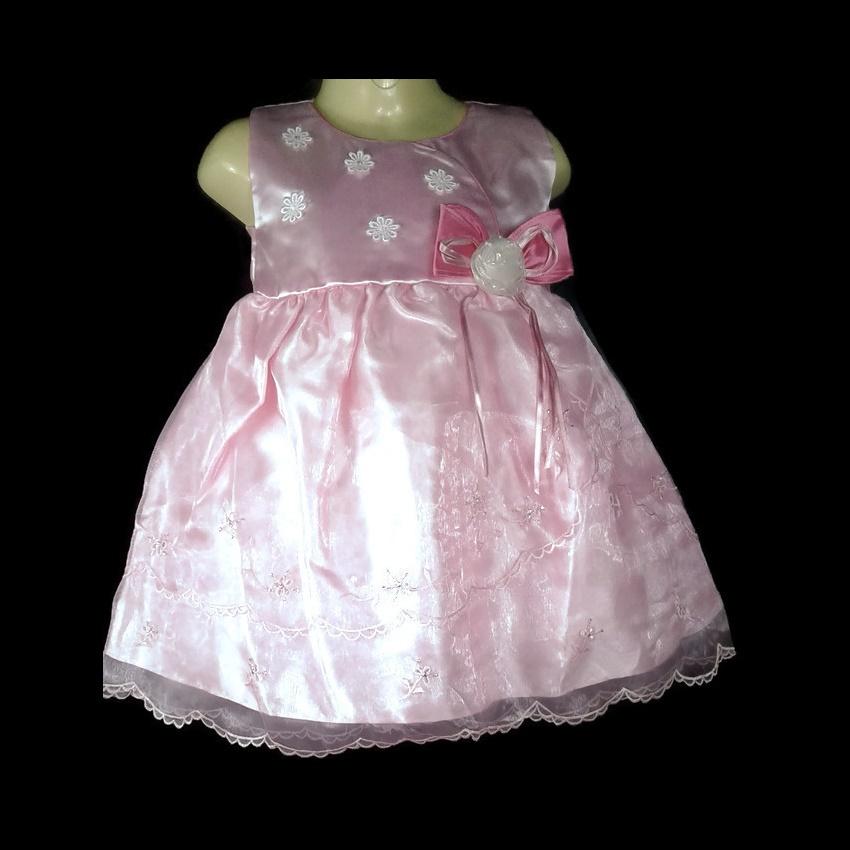 เสื้อผ้าเด็กเบบี้สีชมพูใส่ไปงานแต่งสำหรับเด็ก6-24เดือน