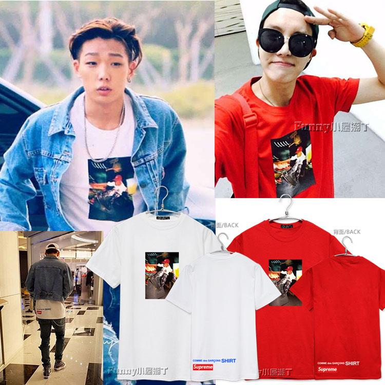 เสื้อยืด Supreme 3D Sty.J-HOPE BTS -ระบุสี/ไซต์