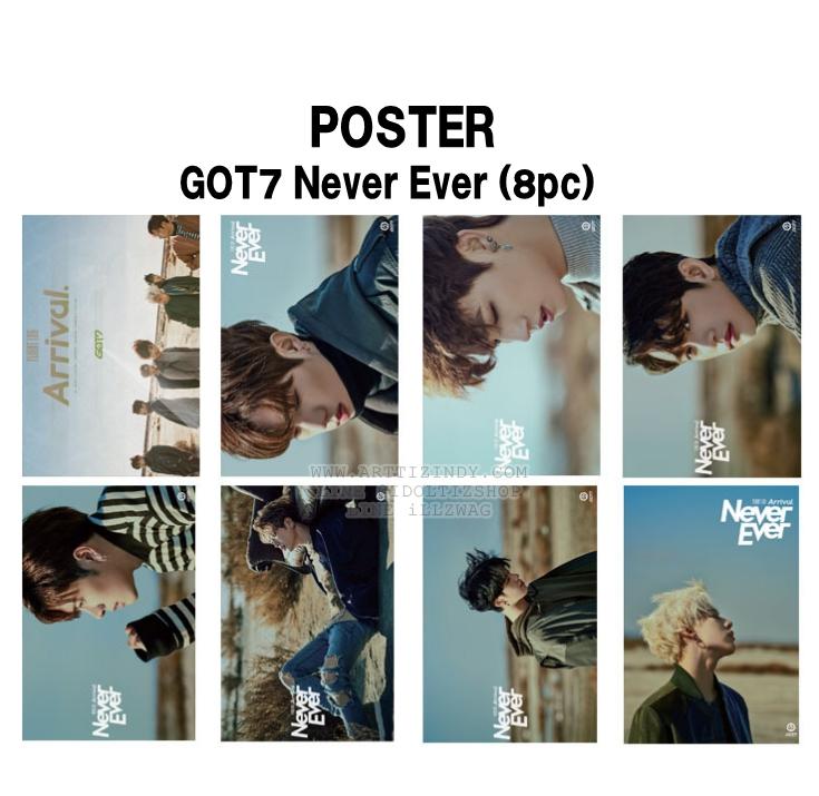 โปสเตอร์เซต GOT7 Never Ever (8แผ่น)