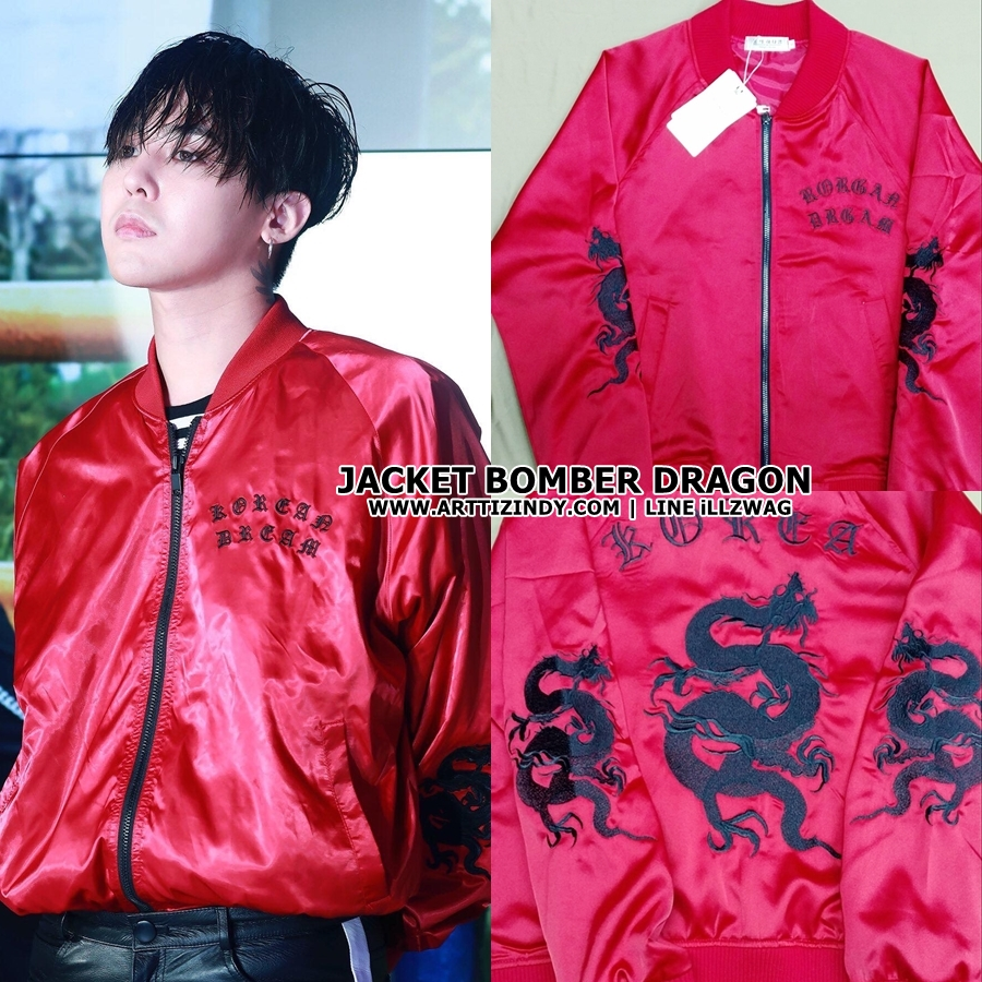 Jacket Bomber RED DRAGON Sty.G-Dragon -ระบุไซต์-