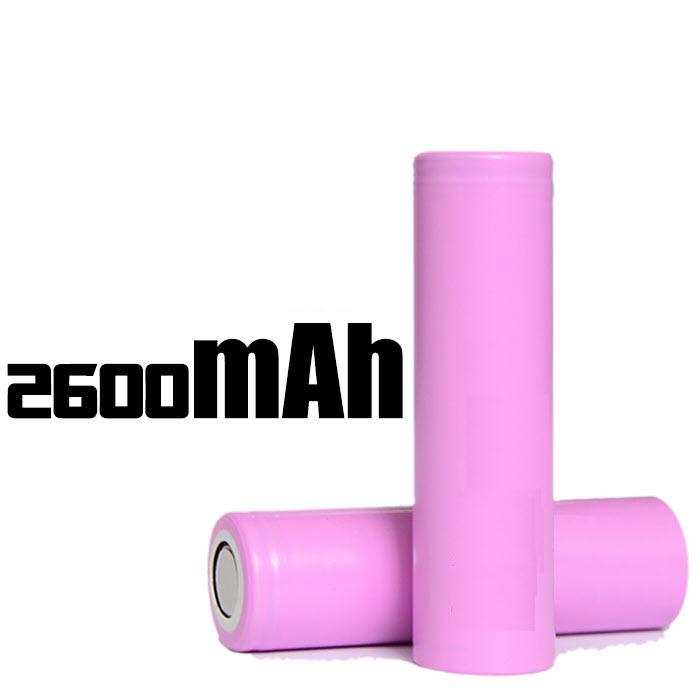 18650-2600mAh (2C 5.2A) Lithium-ion