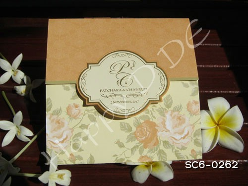 SC6-0262 การ์ดแต่งงานแนะนำ