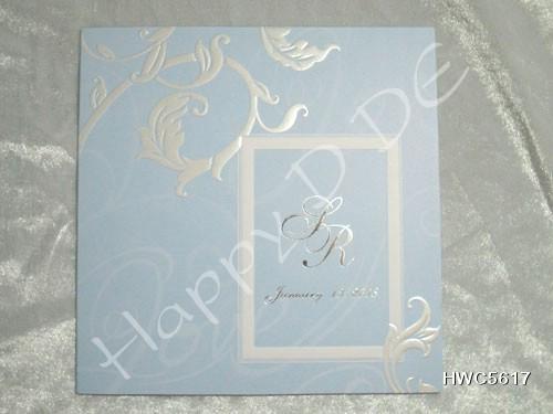 HWC5617 การ์ดแต่งงาน 3 พับ จตุรัส