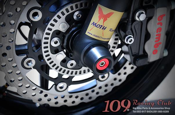 กันล้มล้อหน้า Er6n/6f แบรนด์ Moth Racing [ER6n/6f Front Axle Sliders]