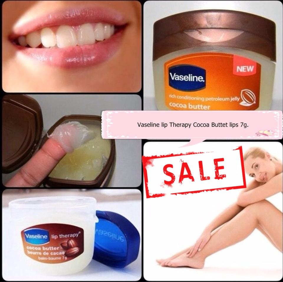 **พร้อมส่ง+ลด 50%**Vaseline lip Therapy Cocoa Butter lips 7g.