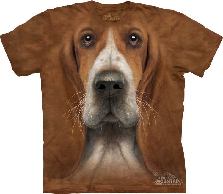 Pre.เสื้อยืดพิมพ์ลาย3D The Mountain T-shirt : Basset Hound Head