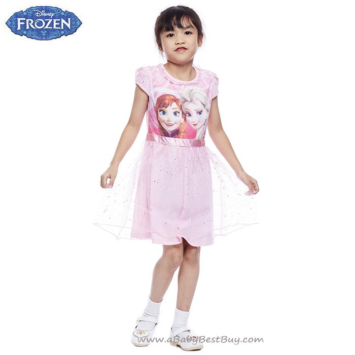 ( 4-6-8-10 ปี ) ชุดเดรส เจ้าหญิงโฟรเซ่น กระโปรงสั้น สีชมพูอ่อน ดิสนีย์แท้ ลิขสิทธิ์แท้ (สำหรับเด็ก4-6-8-10 ปี)