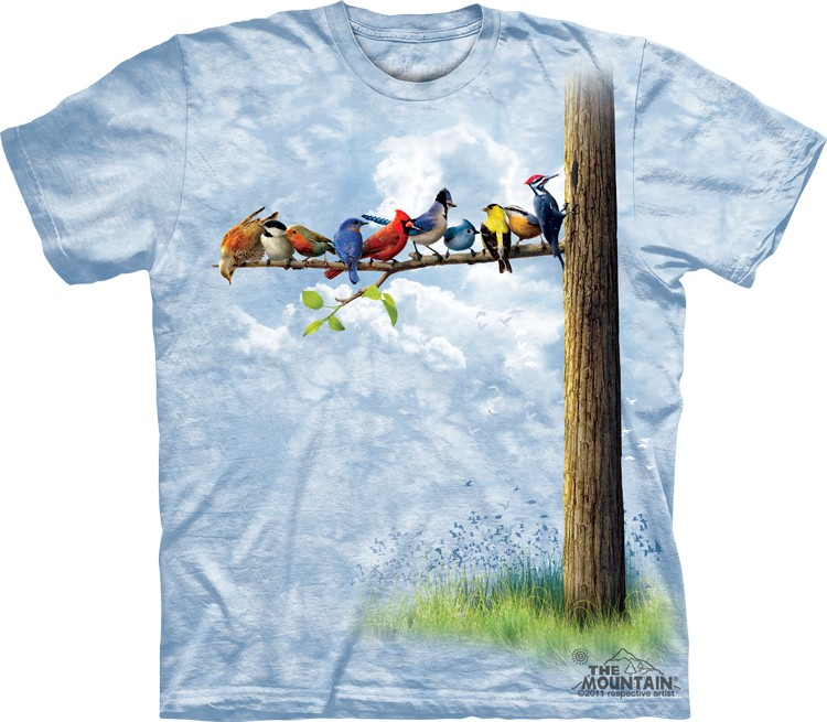 Pre.เสื้อยืดพิมพ์ลาย3D The Mountain T-shirt : Bird Tree