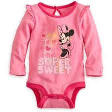 Minnie mouse disney cuddly bodysuit for baby(size 0-3 M) (พร้อมส่ง)