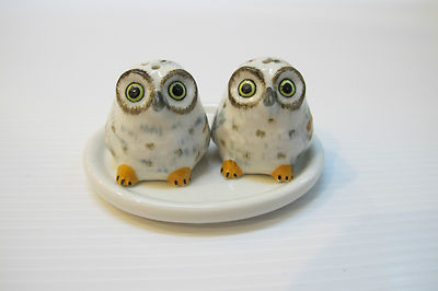 นกฮูกชุดเกลือพริกไทยเซรามิค Salt &Pepper Ceramic Owl