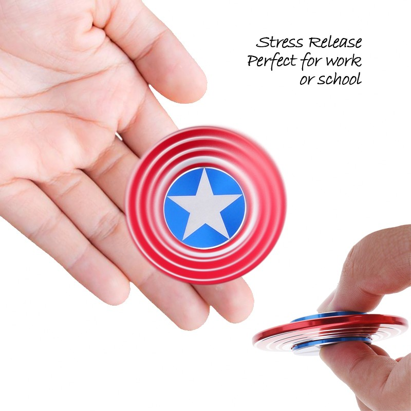Hand Spinner Captain America พร้อมกล่องเหล็ก
