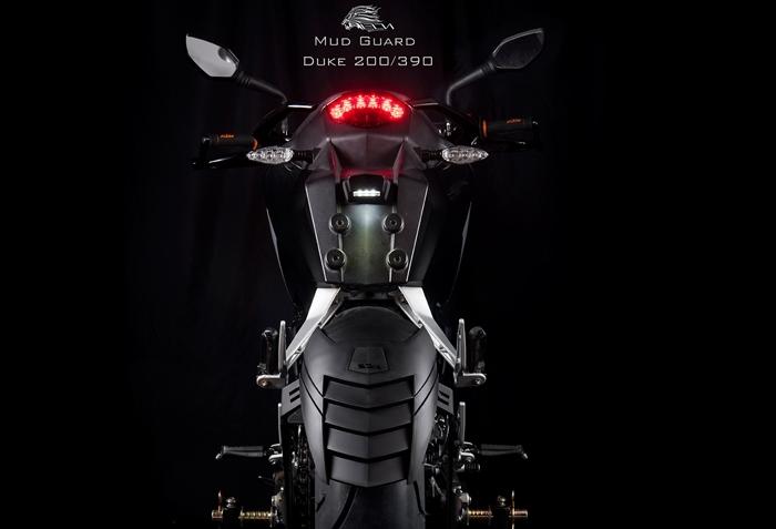 กันดีดขาคู่ Esatto model KTM Duke 200, 390 (Leon)