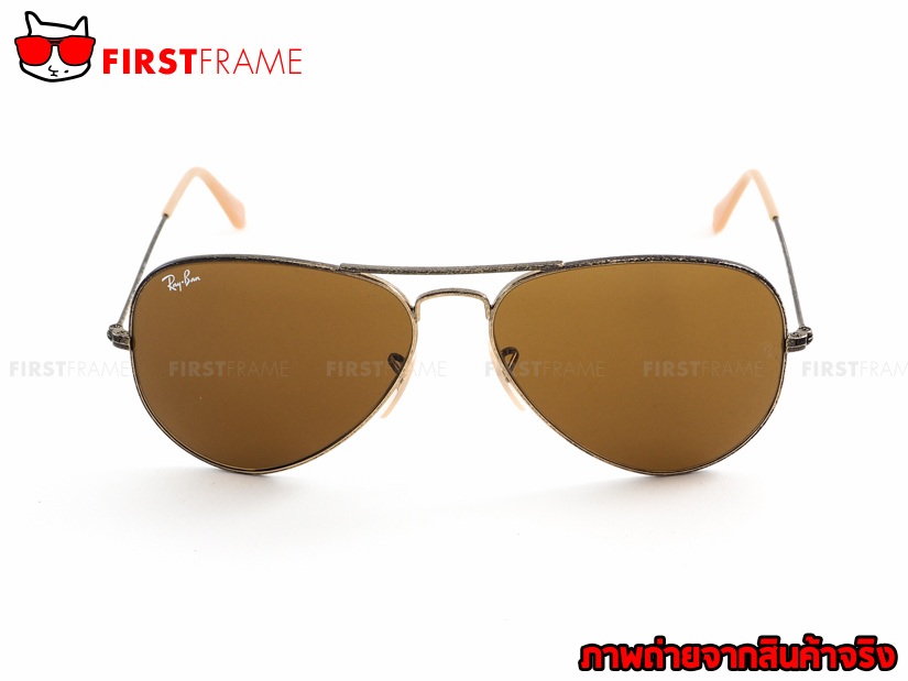 แว่นกันแดด RayBan RB3025 177/33 AVIATOR DISTRESSED2