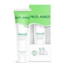 Provamed Vitamin E Cream Serum โปรวาเมด วิตามินอี เซรั่มบำรุงผิวสูตรเข้มข้น สำหรับสภาพผิวที่มีรอยแผลเป็น จากสิวหรือริ้วรอยเร่งการผลัดเซลล์ผิวและขจัดสิวที่อุดตัน ได้อย่างล้ำลึก