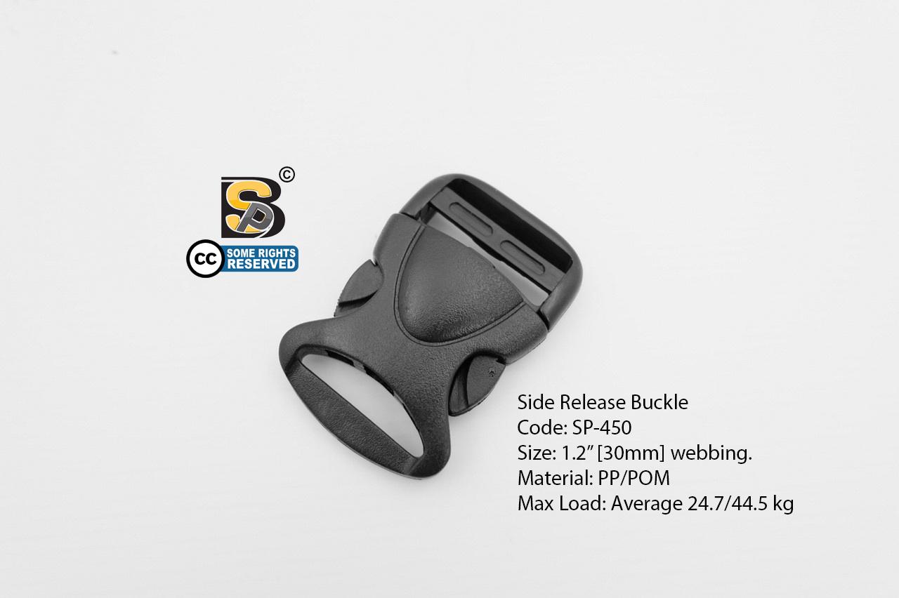 """ก้ามปู 1.2"""" เต่า (นิ่ม) / Side Release Buckle 1.2"""""""
