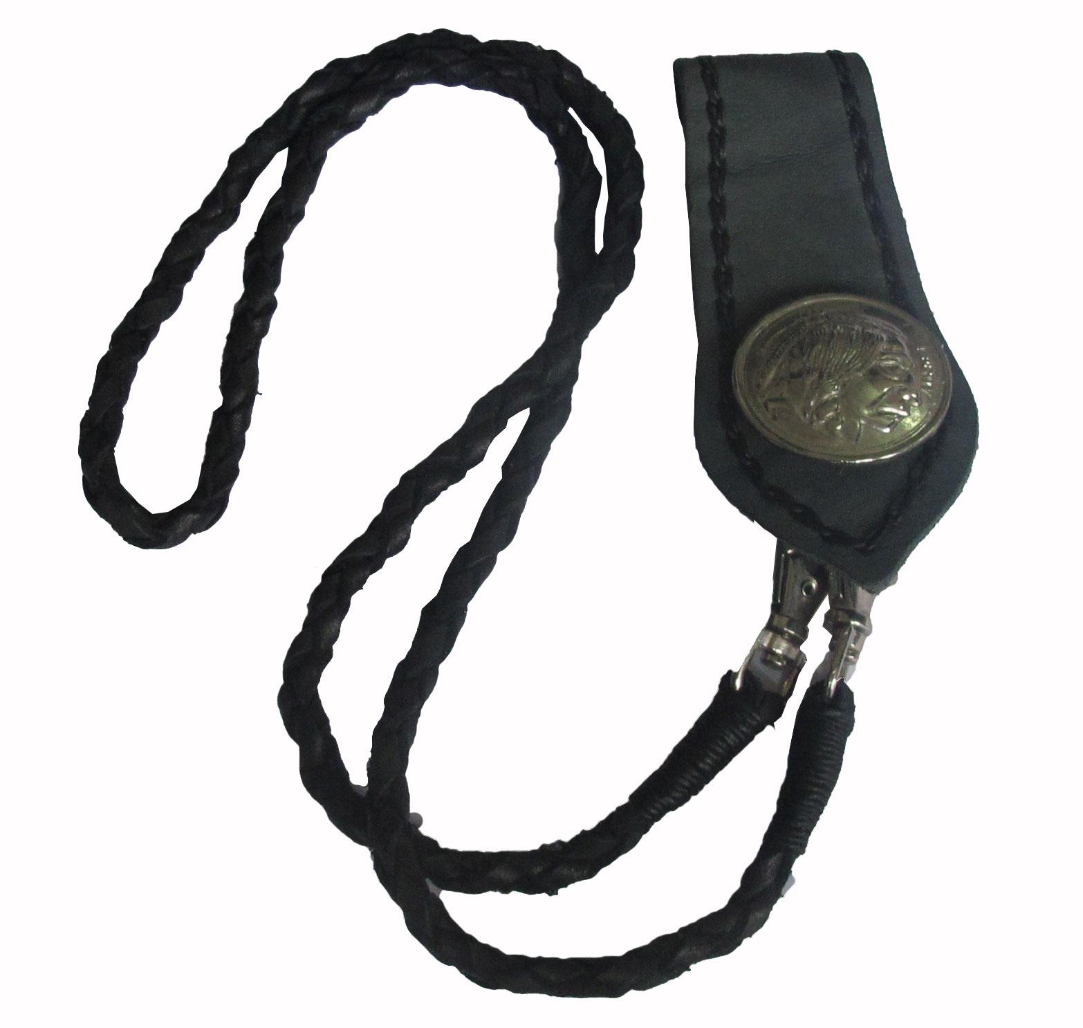 เชือกหนังถัก หนังวัวแท้ สำหรับ คล้องเข้ากับกระเป๋า และหูกางเกง สุดเทห์