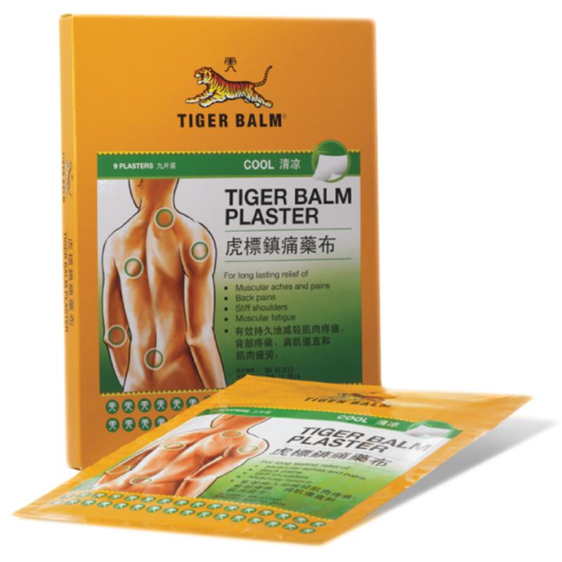 เสือ เย็น ใหญ่ พลาสเตอร์บรรเทาปวด 1กล่อง (24ซอง) เหมาะสำหรับคอ, แขน, ขา และข้อต่อ