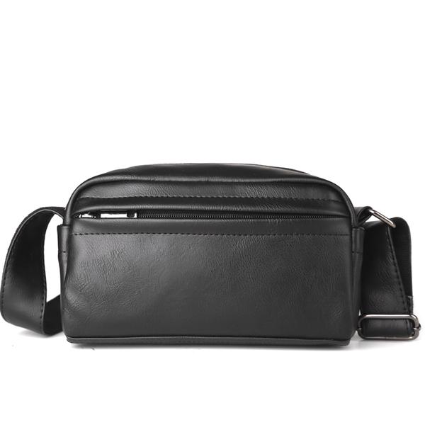 Pre-order กระเป๋าสะพายข้างใบเล็ก ผู้ชาย กันน้ำแฟชั่นเกาหลี รหัส Man-9875 สีดำ