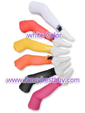 กางเกงเลกกิ้งสีขาว ปลายขาลูกไม้ สำหรับใส่ประกอบกับชุดแฟนซี ประเภทต่างๆ มีขนาด L