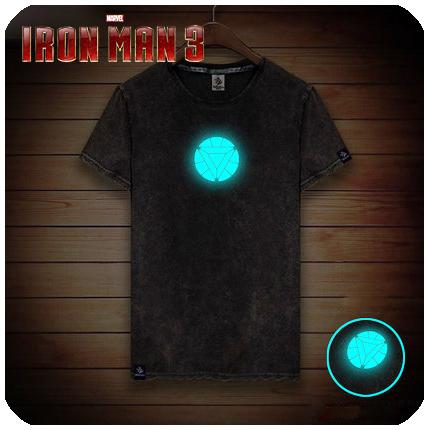เสื้อยืดลายไอรอนแมนเรืองแสง สไตร์เกาหลี 2016 (Ironman)