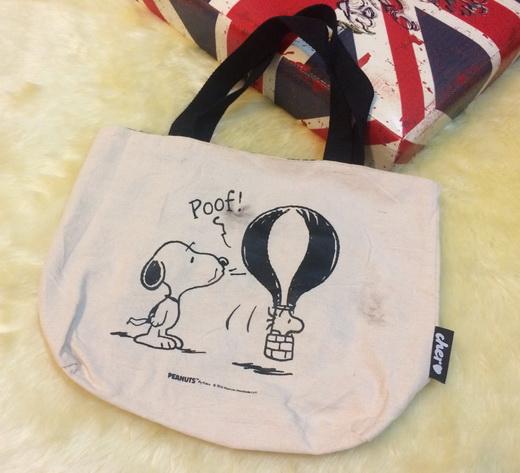 bag04 กระเป๋าผ้าดิบญี่ปุ่น ลาย SNOOPY