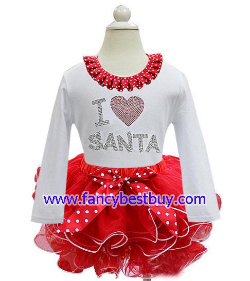 ชุดคริสมาสเด็ก แบบกระโปรง สีขาว Christmas Costume สำหรับ เทศกาลวันคริสมาส มีขนาด 100, 110, 120, 130