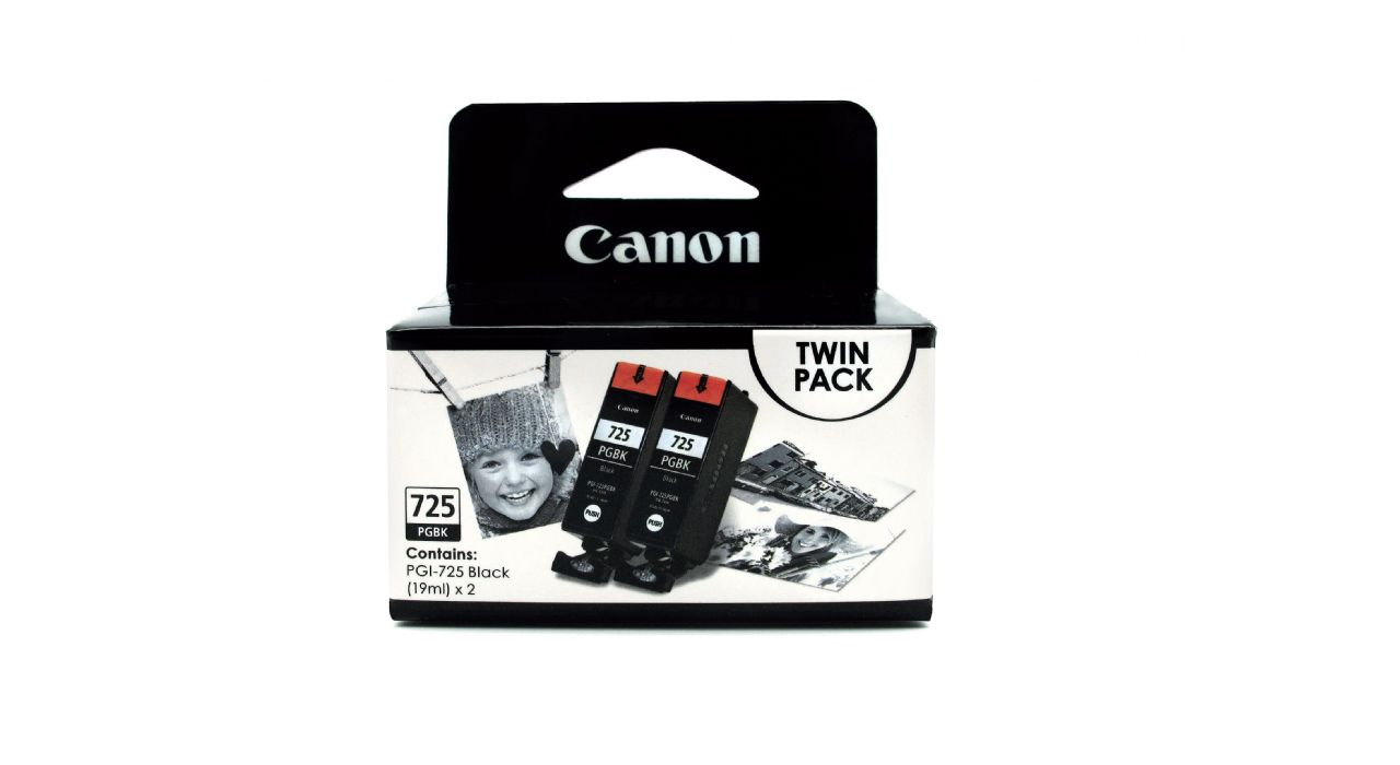 Canon PGI-725BK-Twin ตลับหมึกอิงค์เจ็ท สีดำ แพ็คคู่ Black Twin Original Ink