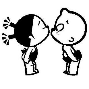 สติ๊กเกอร์ เด็กจูจุ๊บ (28*36CM) สีดำ