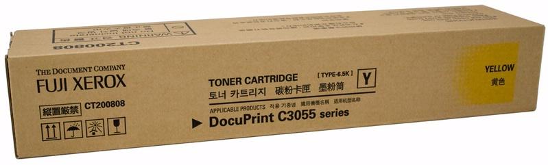 Fuji Xerox CT200808 ตลับหมึกโทนเนอร์ สีเหลือง ของแท้ Yellow Original Toner Cartridge