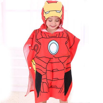 ผ้าคลุมอาบน้ำ Iron Man (สำหรับเด็ก)