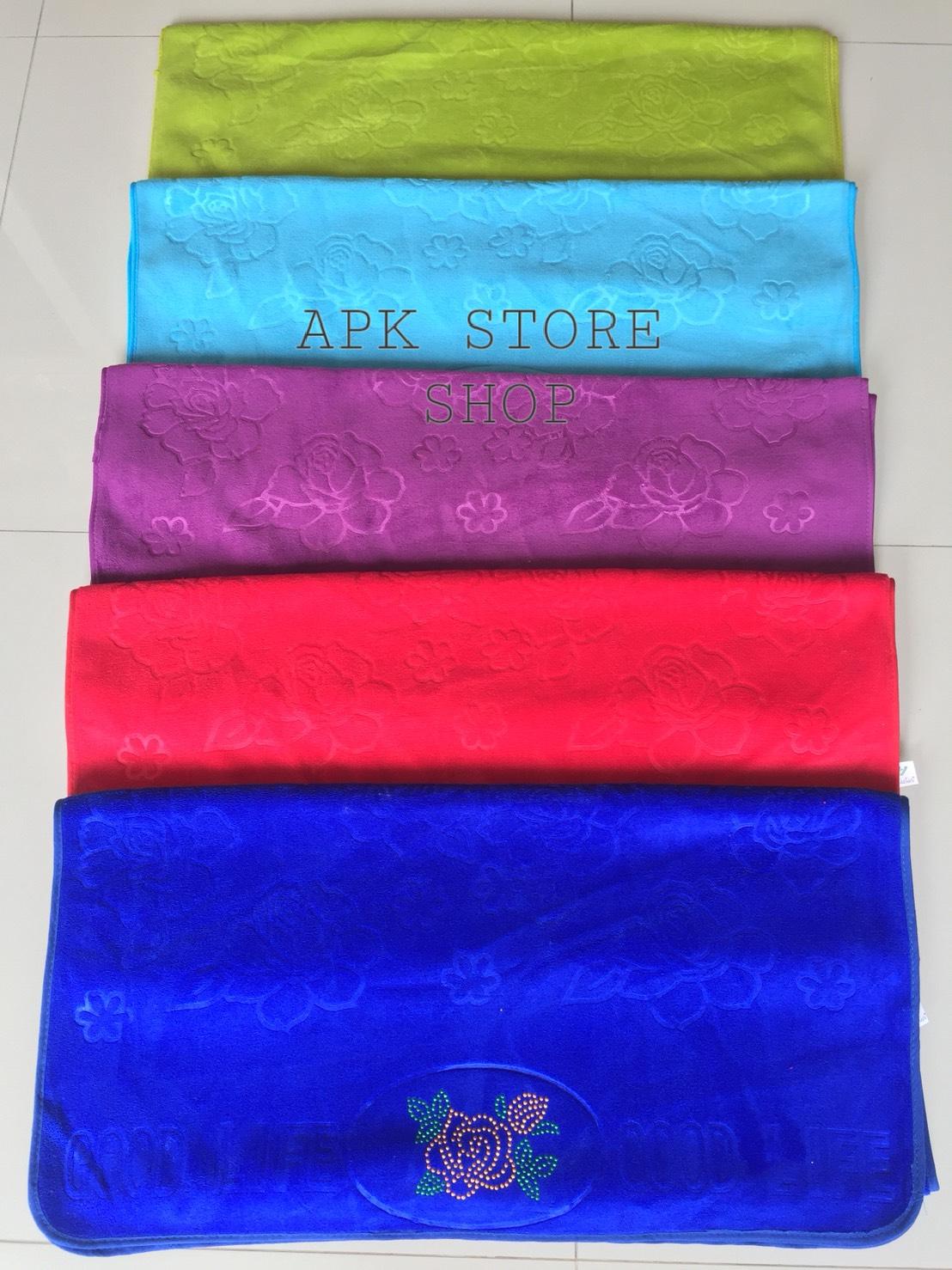 ขายส่ง ผ้าเช็ดตัวนาโน สีพื้น อัดลาย-สีเข้ม (แบบหนา) ส่ง 60 บาท