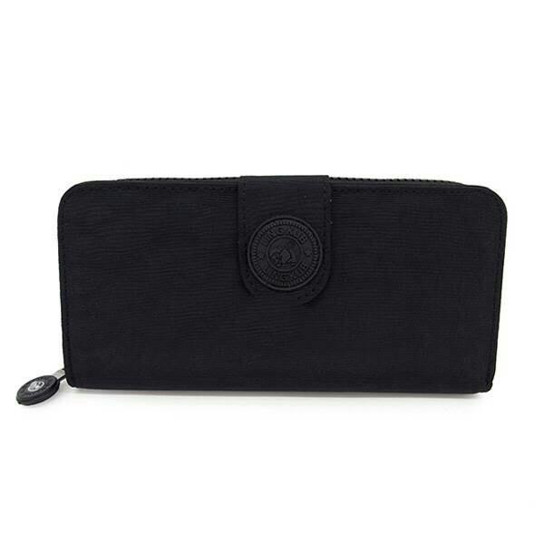 กระเป๋าสตางค์ ้ผ้าทอไนลอน สีดำ