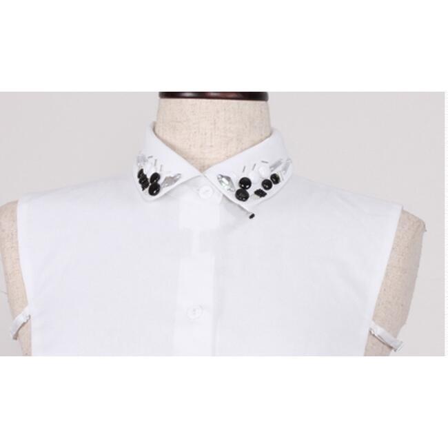 ปกเสื้อสำหรับใส่ใต้เสื้อคอกว้าง False Collar Suit