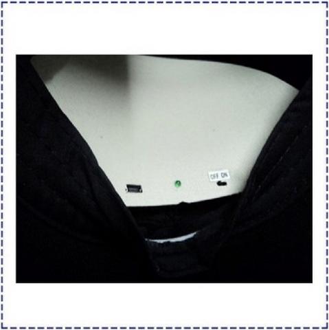 1) เปิด switch ON/OFF ที่กล้องหมวก