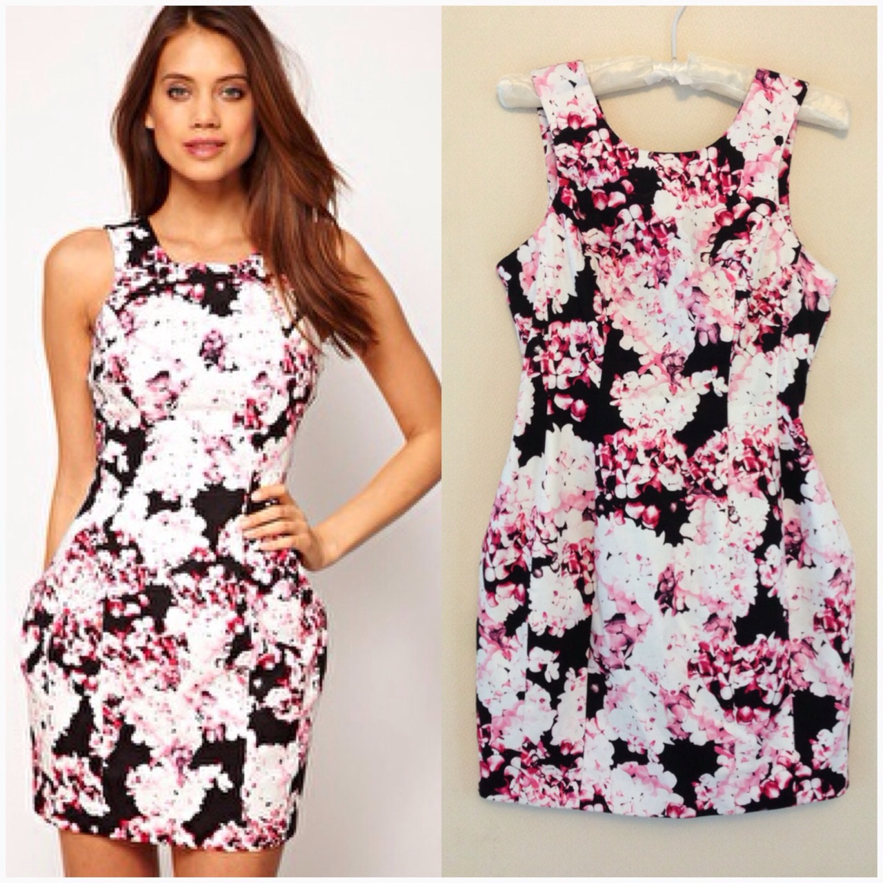 Lipsy Bodycon Floral Dress size uk10