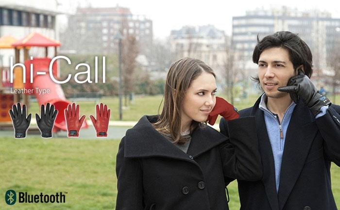 ถุงมือหนังแท้คุยโทรศัพท์ผ่านบลูทูธ Hi-Call